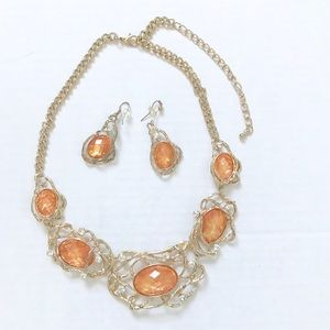 Statement Necklace & Earrings